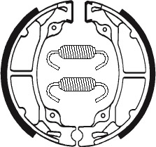 Machoires de frein TECNIUM BA025 organique