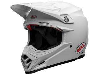 BELL Moto-9 Flex Helm Solid White Size XS