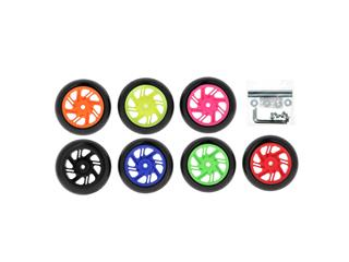 Béquille avant BIHR Home Track noir mat roues vert - 469ba8b9-e054-4e30-8cad-33ed1659d74d