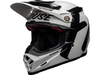 Casco Bell MOTO-9 FLEX FASTHOUSE NEWHALL Blanco/Negro 58-59, Talla L - 801000350270