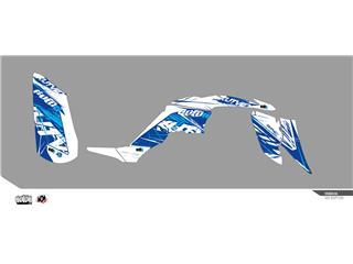 KUTVEK Rotor Graphic Kit Blue Yamaha Raptor 350
