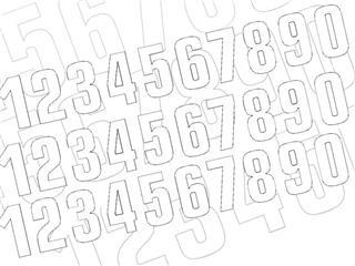 Numéro de course 9 BLACKBIRD 16x7,5cm blanc - 7870039