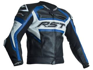 RST TracTech Evo R Jacket CE Leather Blue Size M Men
