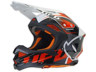 UFO Diamond Helmet Black/White/Red Size XS - HE038XS