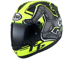 ARAI RX-7V Helmet IOM TT 2019 Limited Edition Drudi Performance Neon Yellow/Black Größe XS