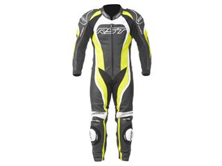 RST Tractech Evo II Suit Leather Flo Green Size S