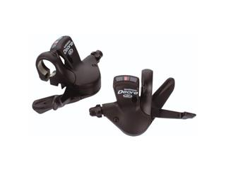 SHIFT LEVER SET SHIMANO DEORE/INCL.CABLES/3X9S BLACK