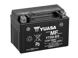 Batterie YUASA YTX9-BS sans entretien livrée avec pack acide
