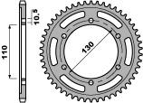 Couronne PBR 45 dents acier standard pas 525 type 4385