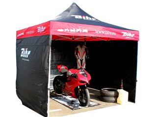 BIHR Home Track Paddock Canopy 3x3m with removable side panels