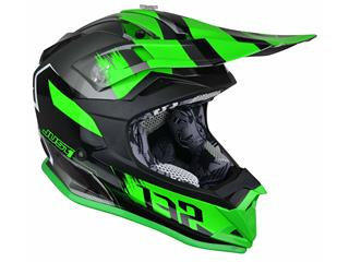 JUST1 J32 Pro Helmet Kick Green/White/Titanium Size XS