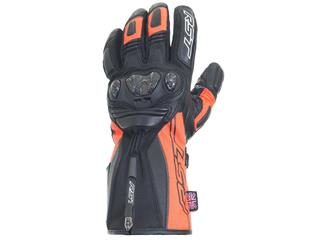 RST Ladies Paragon V CE Waterproof Gloves Leather/Textile Flo Red Size L/08 Women