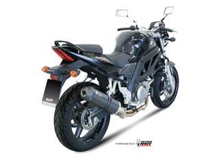 Silencieux + demi-ligne MIVV Oval Carbon Cap carbone Suzuki SV650 - MVS015L3C