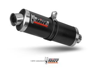 Silencieux MIVV Oval Classic carbone Suzuki GSF600 Bandit - MVAS003L3