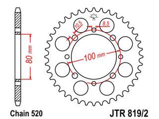 Couronne JT SPROCKETS 41 dents acier pas 520 type 819/2 - 47819241