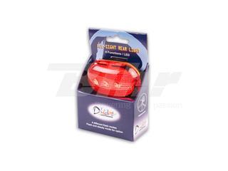 Linterna 4 funciones con pilas. Roja