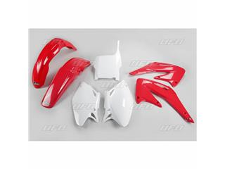 UFO Plastic Kit OEM Color Red/White Honda CRF450R