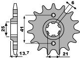 Pignon PBR 15 dents acier standard pas 530 type 268 Honda VF400FD