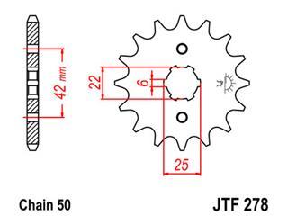 Pignon JT SPROCKETS 17 dents acier pas 520 type 278 - 46027817