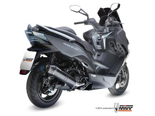 MIVV Stronger Stainless Steel Full Exhaust System Steel Black Muffler/Carbon End Cap Kymco X-Citing 400