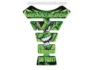 Protection de réservoir MOTOGRAFIX Street Style 1pc Devil vert
