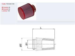 Filtre à air BMC conique manchon Ø60mm - 790046