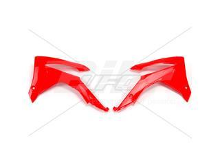 Plásticos laterales de radiador UFO Honda rojo completo HO04657-070