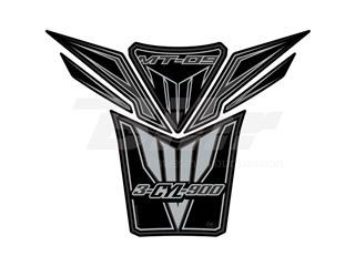 Protector de depósito Motografix YAMAHA MT-09 6 piezas negro/plata