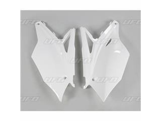 Plaques latérales UFO blanc Kawasaki KX450F - 78255510