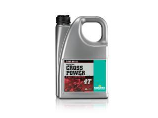 Huile moteur MOTOREX Cross Power 4T 10W60 100% synthétique 4L