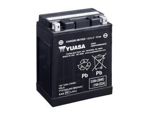 Batterie YUASA YTX14AH-BS sans entretien livrée avec pack acide - 32YTX14AHBS