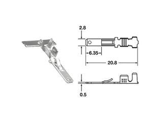 Cosse mâle série 110 ML BIHR Ø0,85mm²/1,25mm² - 50pcs