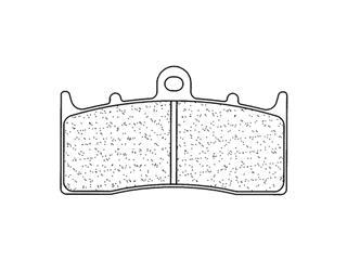Plaquettes de frein CL BRAKES 2960A3+ métal fritté - 27296001