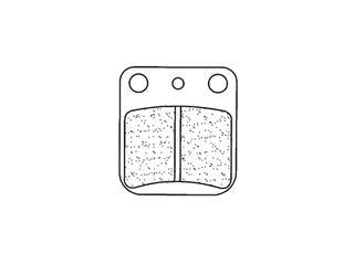 Plaquettes de frein CL BRAKES 2408RX3 métal fritté - 27240802