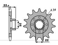 PBR Front Sprocket 15 Teeth Steel Standard 520 Pitch Type 2252 chain 520