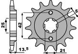 Pignon PBR 14 dents acier standard pas 530 type 494 Ducati 500 SL Pantah Sport