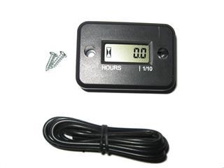 BIHR Hour Meter w/ Wire Black