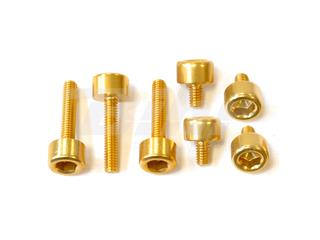 Kit parafusaria tampa reservatório Pro-Bolt alumínio TKTM125G ouro