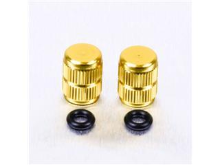 Pair of Pro-Bolt gold aluminium tyre valve caps
