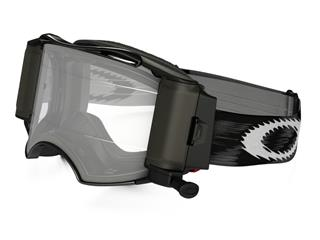 OAKLEY Airbrake MX Race-Ready Roll-Off Goggle Jet Black Speed Clear Lens - 57-989