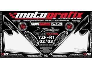 Kit déco avant MOTOGRAFIX blanc Yamaha YZF R1 - 7849103