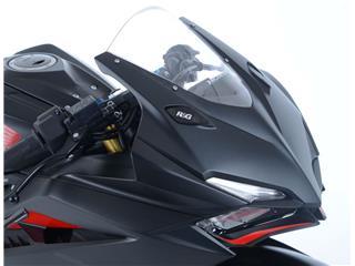 R&G RACING Mirror Blanking Plate Black Honda CBR250RR