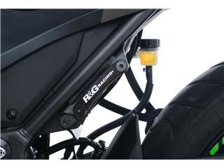 R&G RACING Rear Foott Rest Blanking Plates Left Black Kawasaki