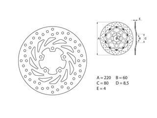 BREMBO Oro Brake Disc Round Fix - 53.240732
