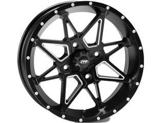 ITP TORNADO 15x7 4x137 5+2 Aluminum Utility Wheel Matt Black