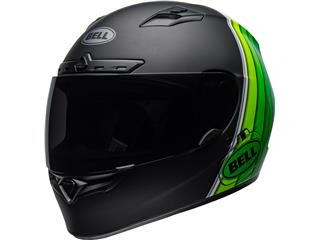 BELL Qualifier DLX MIPS Helmet Illusion Matte/Gloss Black/Green Size XXXL