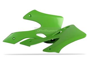 Ouïes de radiateur POLISPORT vert Kawasaki KX125/KX250 - PS515G03