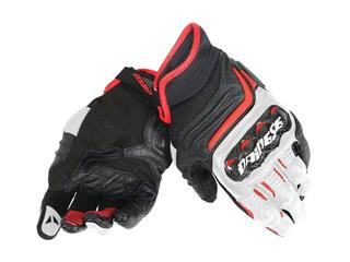Dainese Carbon D1 Short Gloves Black/White/Red Size L