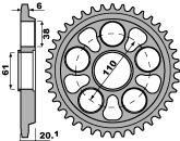Couronne acier PBR 41 dents chaîne 520 MV 750 BRUTALE  - 47442041