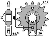 Pignon PBR 16 dents acier standard pas 525 type 2047 Honda - 46001337